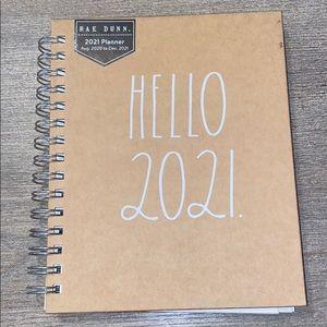 Rae Dunn HELLO 2021 hard cover planner